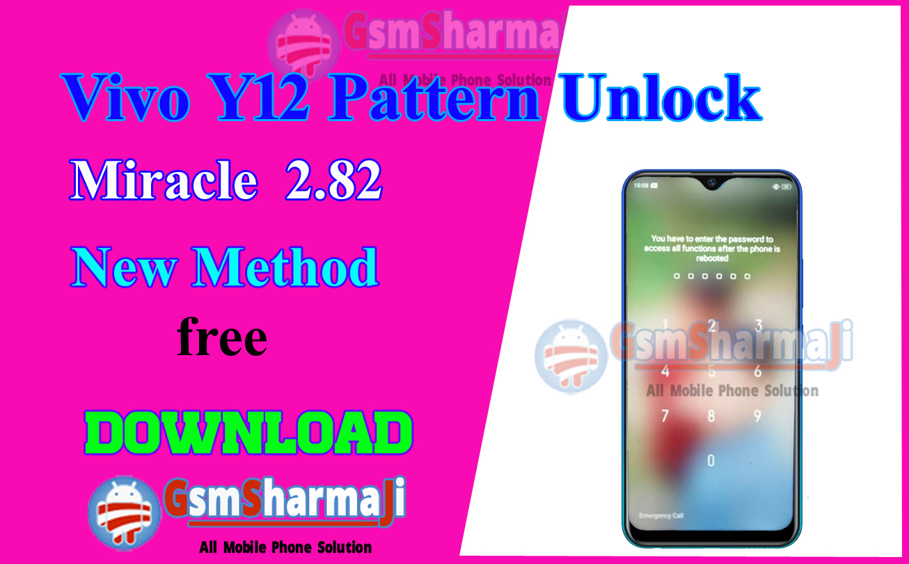 Vivo Y12 pattern unlock