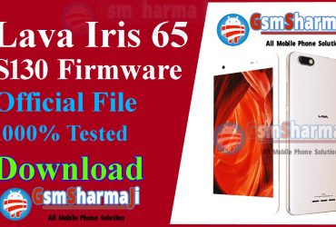 Lava Iris 65 S130 Official Firmware