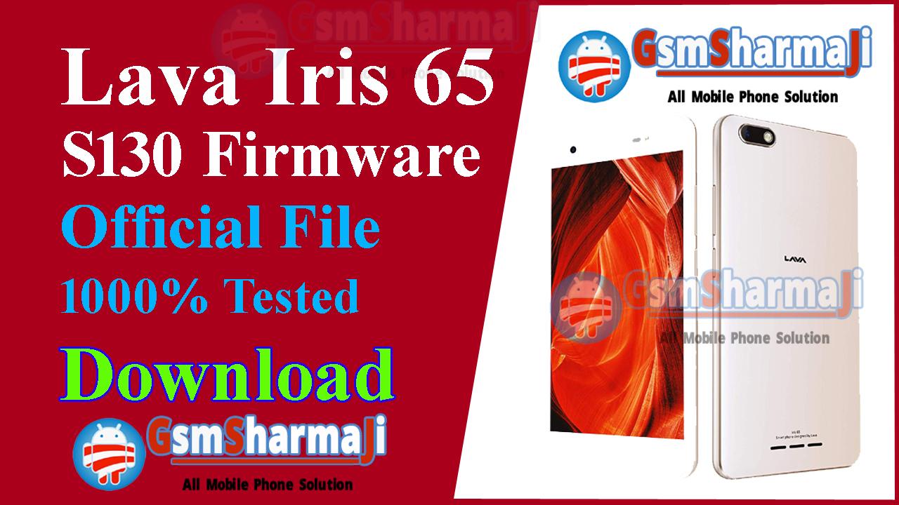 Lava Iris 65 S130 Official Firmware