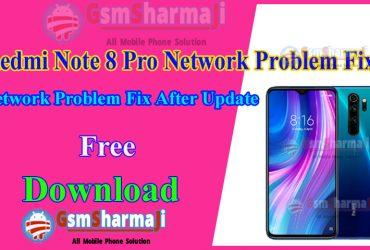 Redmi Note 8 Pro Network Problem Fix After Update