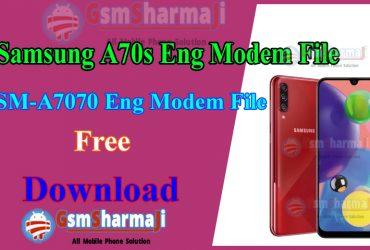 Samsung A70s SM-A7070 ENG Modem File