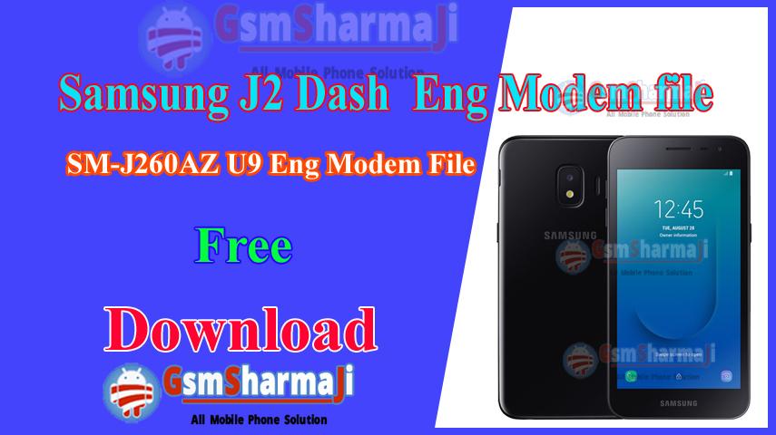 Samsung J2 Dash ENG Modem File