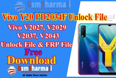 Vivo Y20 PD2034F Unlock File & FRP Unlock File