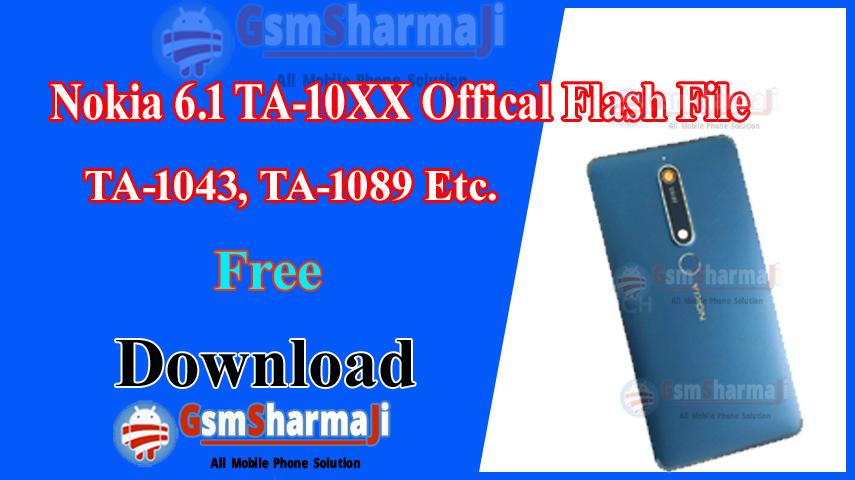 Nokia 6.1 TA-10XX Firmware