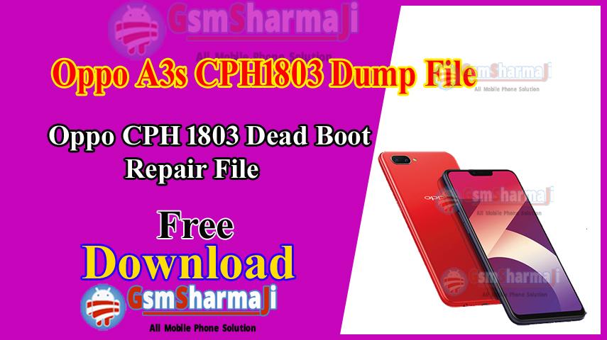Oppo A3s CPH1803 Dump File Free Download