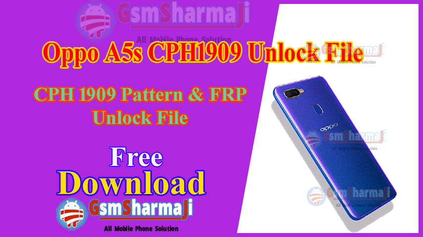 Oppo A5S CPH1909 Unlock File & FRP File Free SP Flash Tool