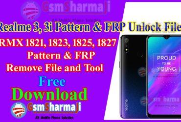 Realme 3, 3i Pattern Unlock RMX1821, RMX1823, RMX1825, RMX1827 Free SP Flash Tool One Click