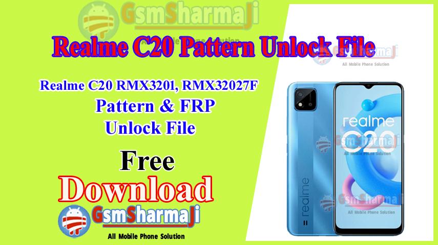 Realme C20 (RMX3201 RMX3202) Pattern & FRP Unlock File Free SP Flash Tool