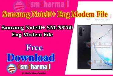 Samsung Note10+ SM-N9760 Eng Modem File