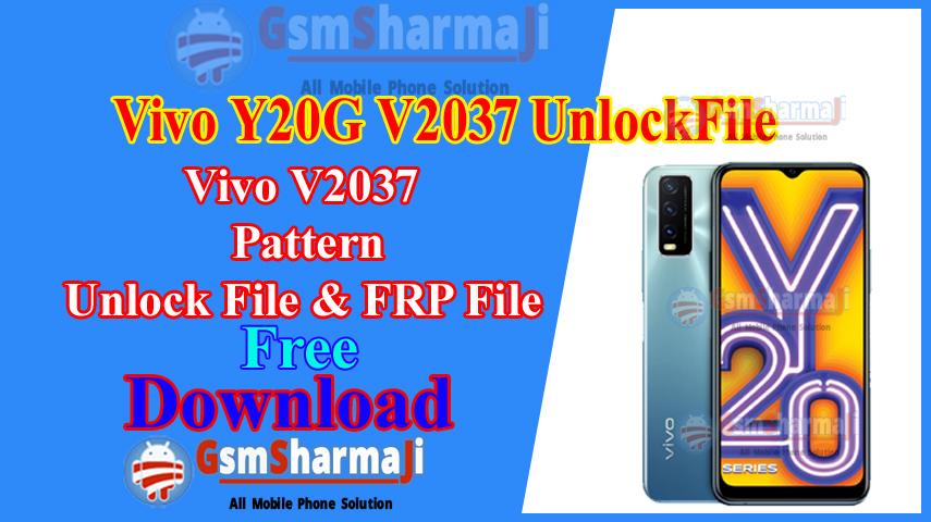 Vivo Y20G V2037 Pattern & FRP File