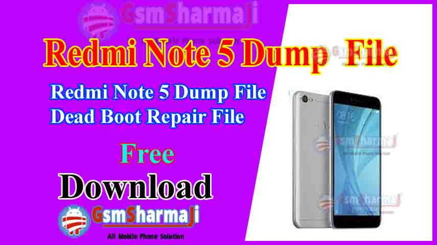 Redmi Note 5 Dump File Free Download Tested