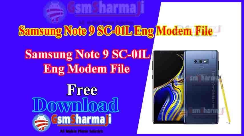 Samsung Note 9 SC-01L Eng Modem File