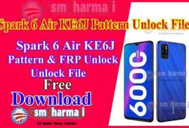 Tecno Spark 6 KE6J Pattern & FRP Unlock File By SP Flash Tool-min
