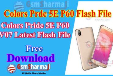 Colors Pride 5E P60 v07 Official Firmware Stock ROM / Flash File Download 1000% Tested
