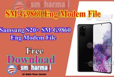 Samsung S20+ SM-G9860 ENG Modem File Free Download
