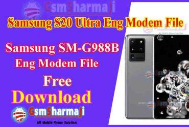 Samsung S20 SM-G988B ENG Modem File Free Download